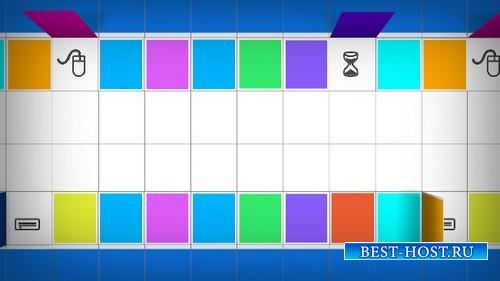 HD футаж Цветная мозаика