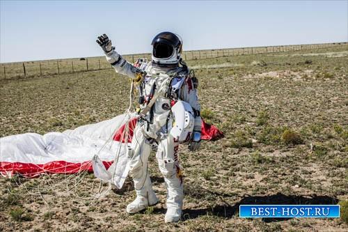 Шаблон для photoshop - В костюме космонавта