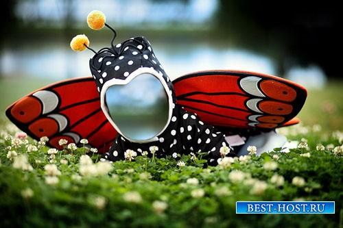 Детский шаблон - Маленькая бабочка