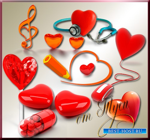 Клипарт - А сердечко тихо бьётся в ожидании любви