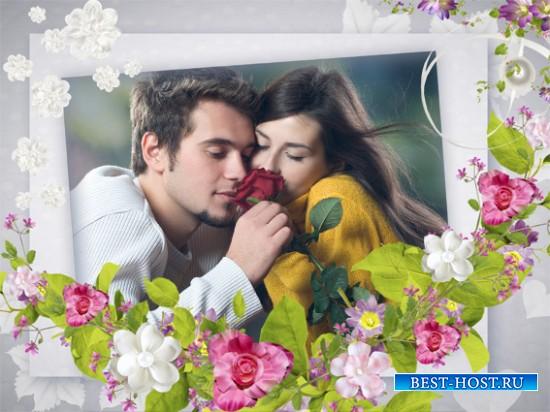 Рамка романтическая для фотошопа - Мгновения нежности
