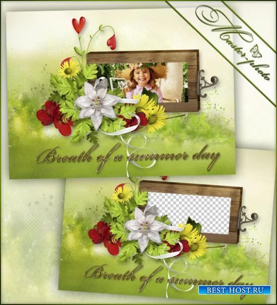 Рамка летняя с цветами - Летнее дыхание