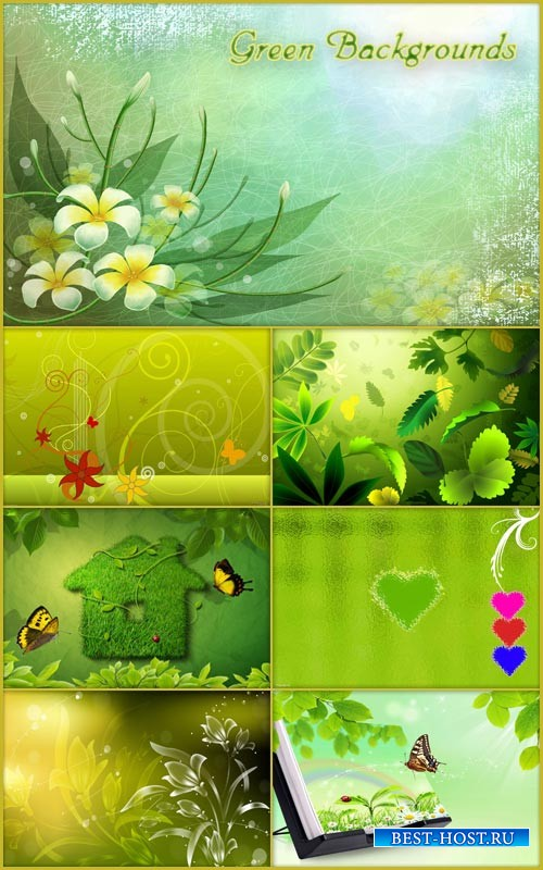 Зеленые фоны для Photoshop