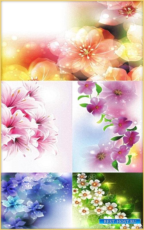 Цветочные фоны для открыток