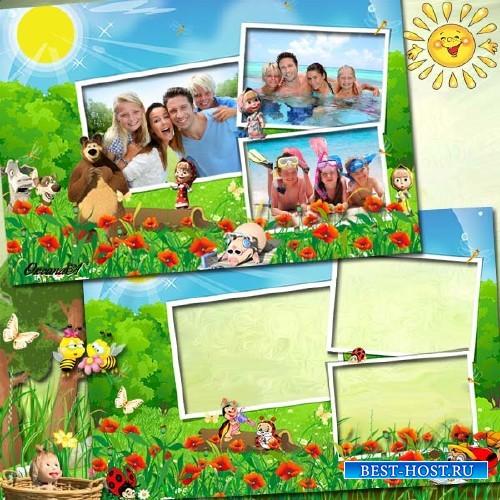 Детская фоторамка на 3 фото – Самый лучший день лета