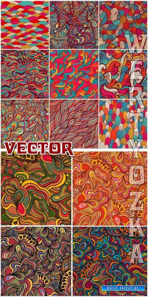 Векторные фоны с золотым декором / Vector Background with colorful designs