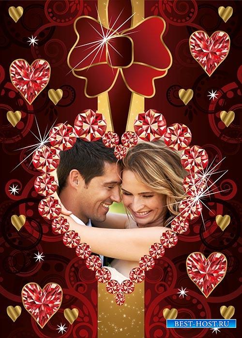 Фотошоп рамка сердечко ис драгоценных камней