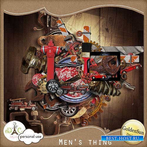 Мужской скрап-комплект - Мужские вещи