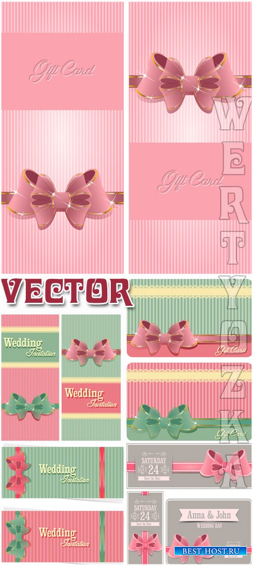 Свадебные приглашения / Wedding invitation - vector clipart