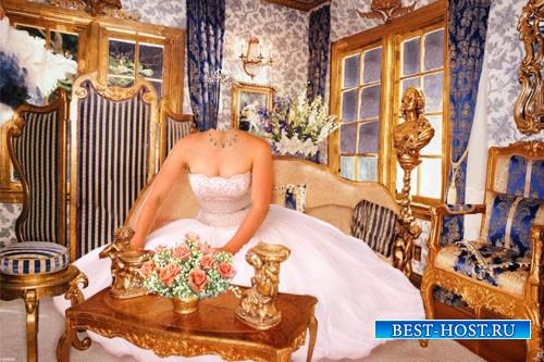 Свадебный шаблон - Невеста возле стола