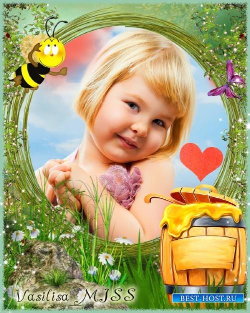Детская фоторамка - Медовое угощение