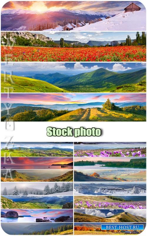 Природа, красивые пейзажи / Nature, beautiful landscapes - Raster clipart