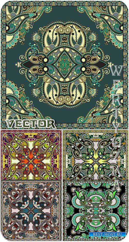 Оригинальные цветочные узоры / Original floral patterns - vector