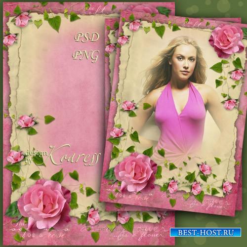 Женская рамка для фотошопа - Очарование винтажных фотографий