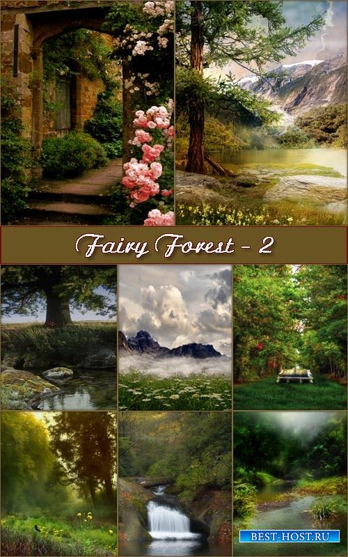 Фоны для фотошопа - Сказочный лес 2