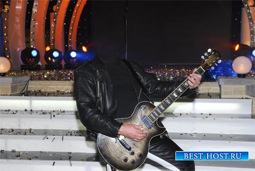 Шаблон для мужчин - На собственном выступлении с гитарой