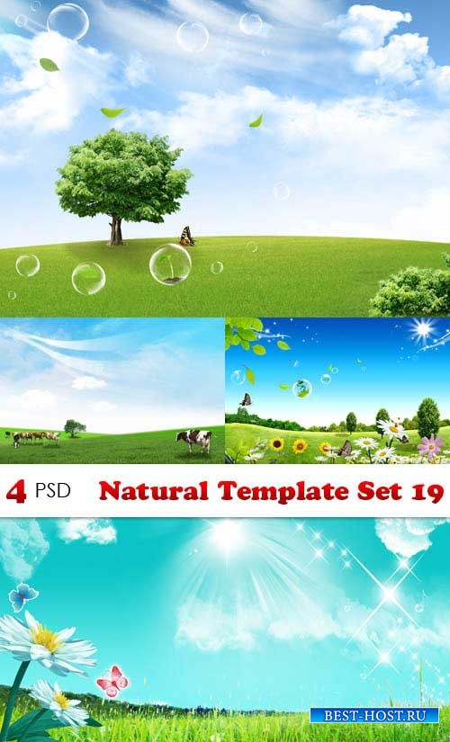 PSD исходники - Natural Template Set 19