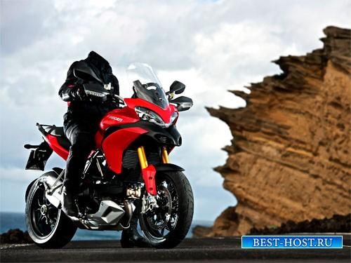 Шаблон для мужчин - Путешествие на спортивном мотоцикле