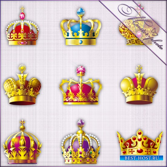 Многослойный PSD - Короны для королев