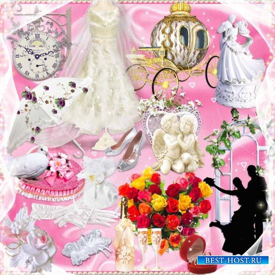 «Свадебный переполох» – скрап-набор для оформления рамок, фотоальбомов, кол ...