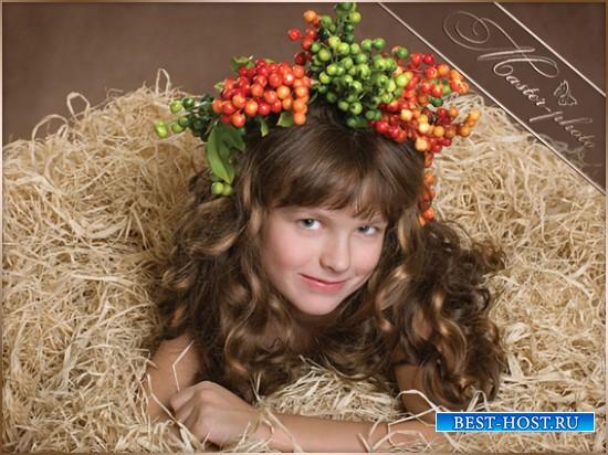 Шаблон детский девочке - Осенний венок