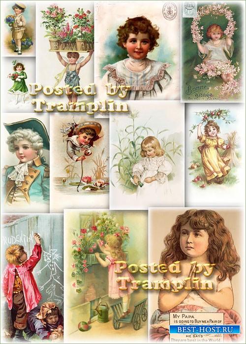 Винтажные открытки  -  Все окна распахнуты в детство