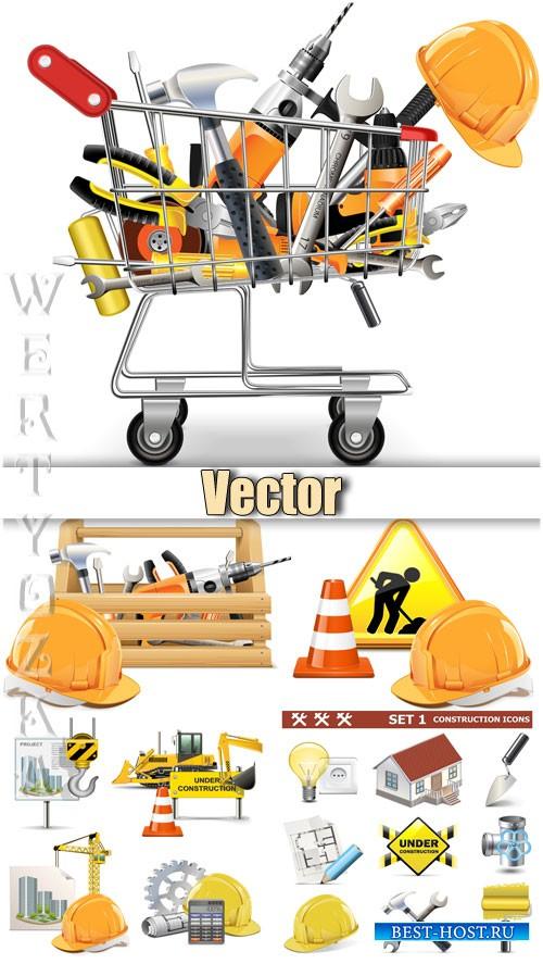 Строительные и ремонтные работы / Construction and repairs - vector