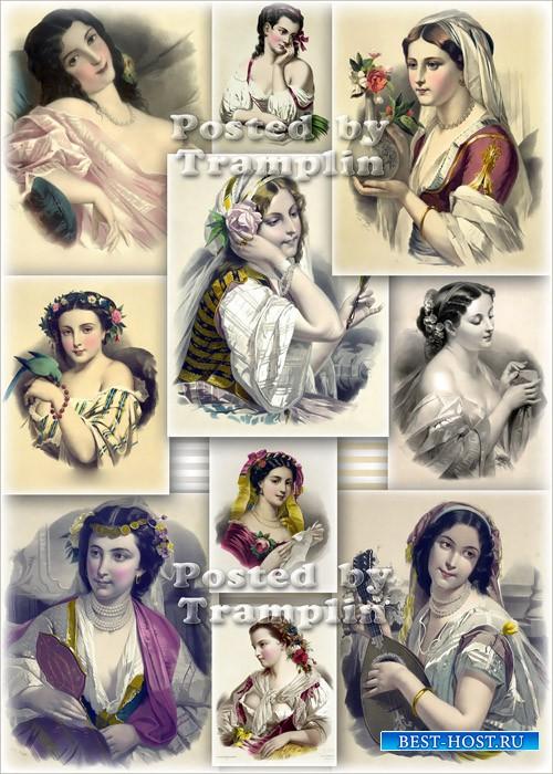 Литографии Josephine Ducollet - Винтаж