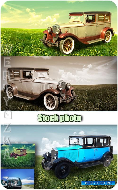 Ретро автомобили / Retro cars - Raster clipart