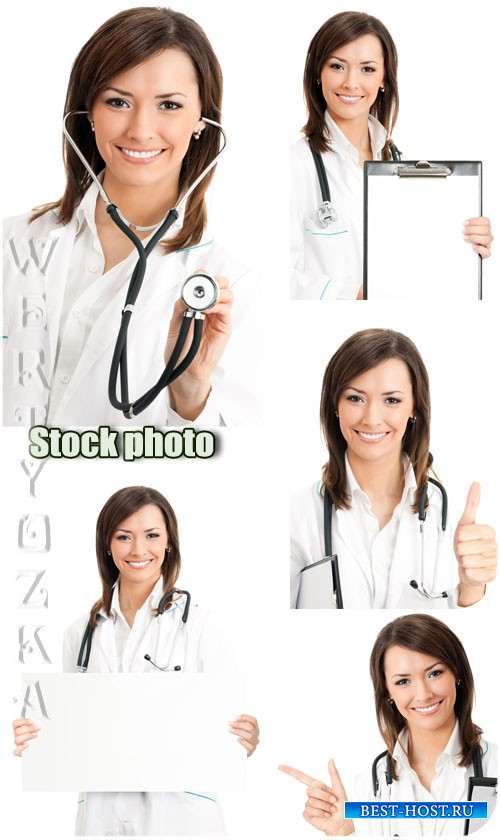 Женщина врач / Female doctor - Raster clipart
