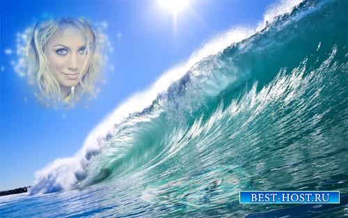 Рамка для фотографии - Морская волна