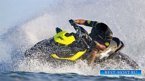 Шаблон для photoshop - Развлечение на водном мотоцикле