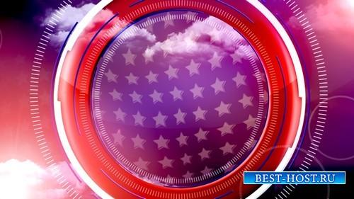 футаж Национальный флаг MOV