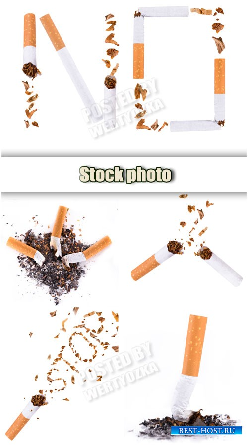 Вред курения, сигареты / Harm of smoking, cigarettes - Raster clipart
