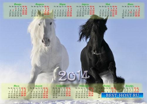 Красивый календарь - Шикарные лошади