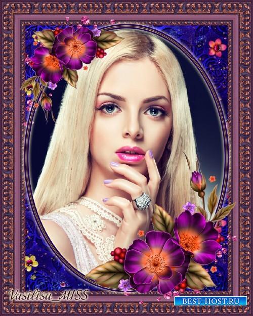 Цветочная рамка - Прекрасные цветы шиповника