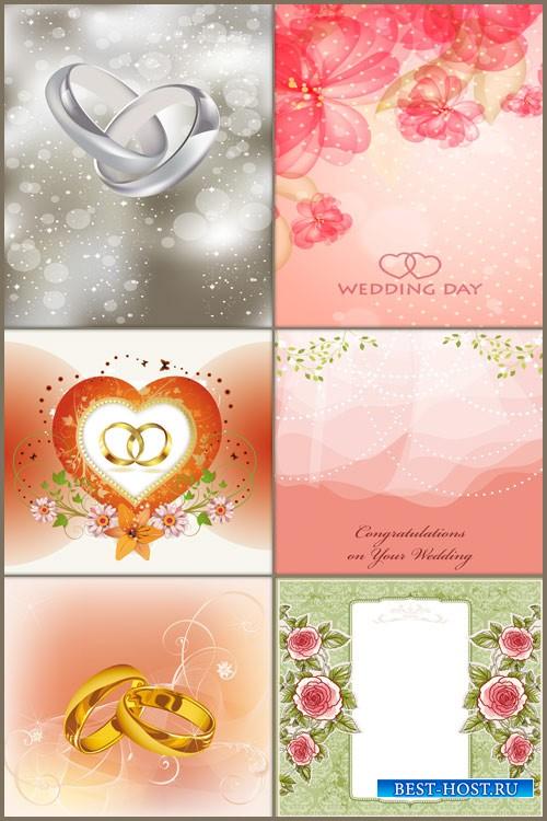 Свадебные фоны в векторе 2