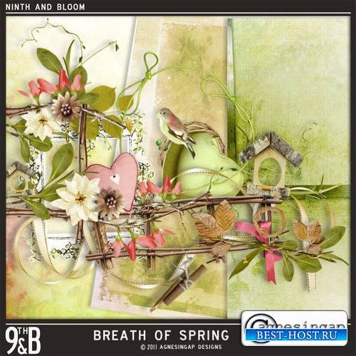Весенний мини-скрап - Дыхание весны