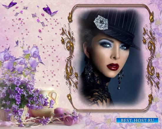 Рамка женская - Изысканные цветы