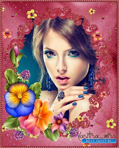 Цветочная рамка - Твой аромат пленил меня