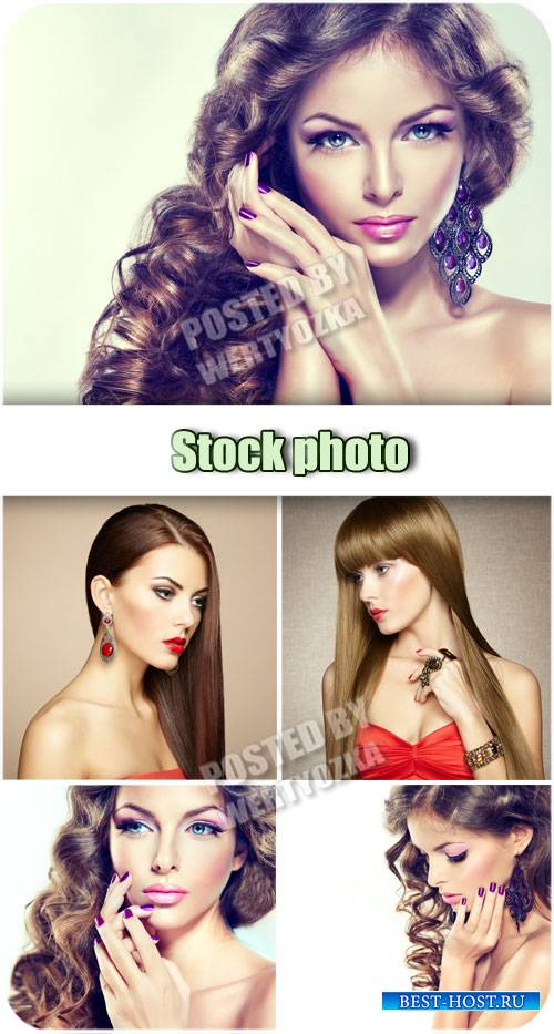 Девушки с красивым макияжем / Girl with beautiful make-up - stock photos