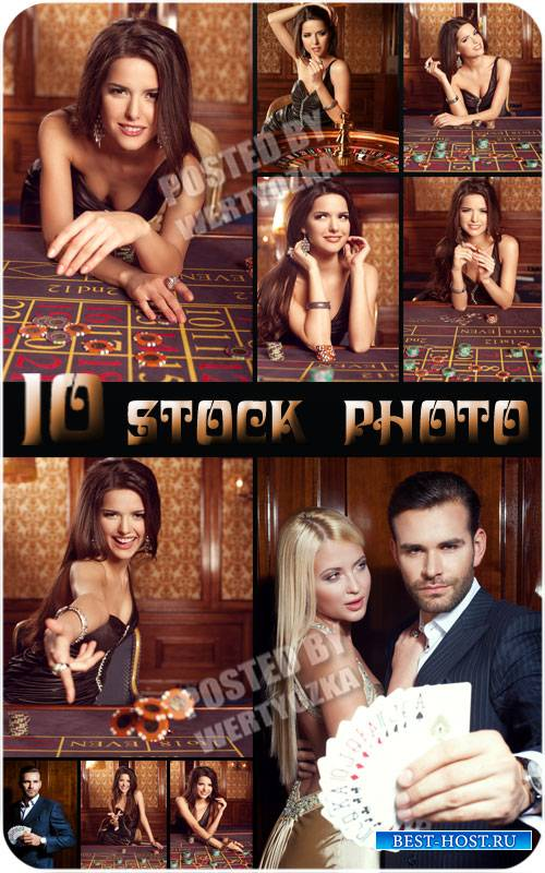 Казино, мужчина и женщина в казино / Casino, man and a woman in a casino -  ...