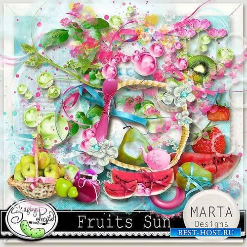 Фруктово-ягодный скрап-комплект - Солнечные фрукты