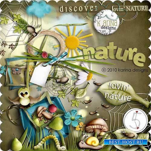 Забавный детский скрап-комплект - Люблю природу