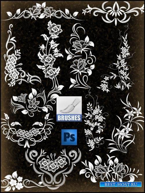 Дизайнерские кисти - Растительный орнамент