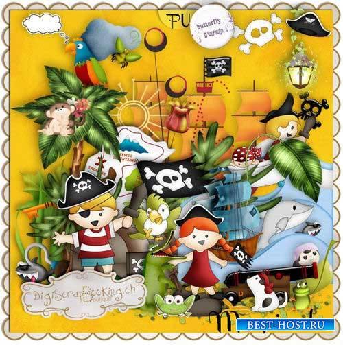 Приключенческий детский скрап-комплект - Мой пират