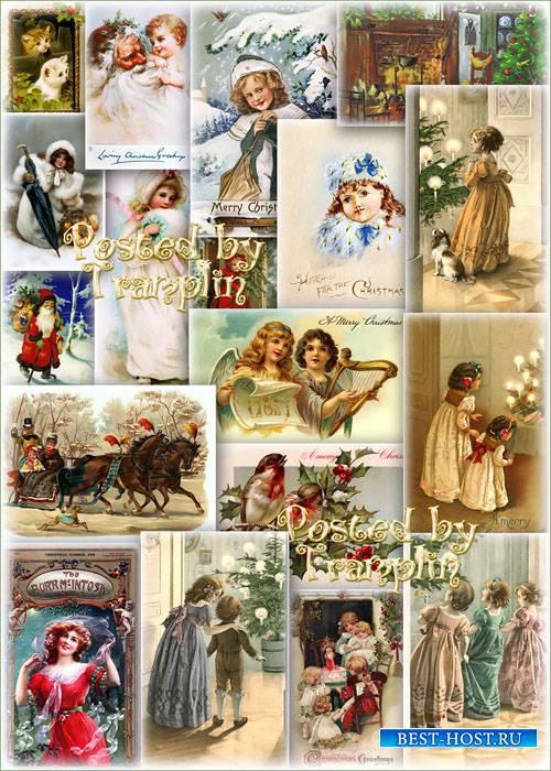 Новогодний и Рождественский винтаж – Открытки, картинки постеры