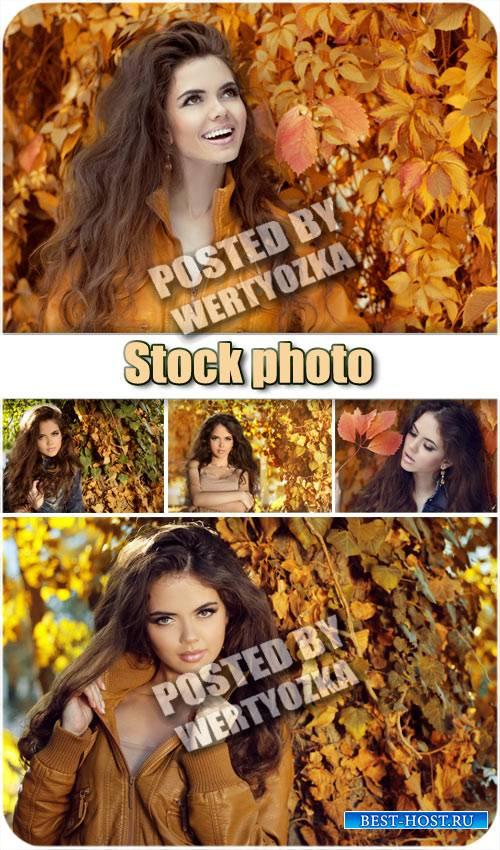 Девушка и осень / Girl and autumn - stock photos