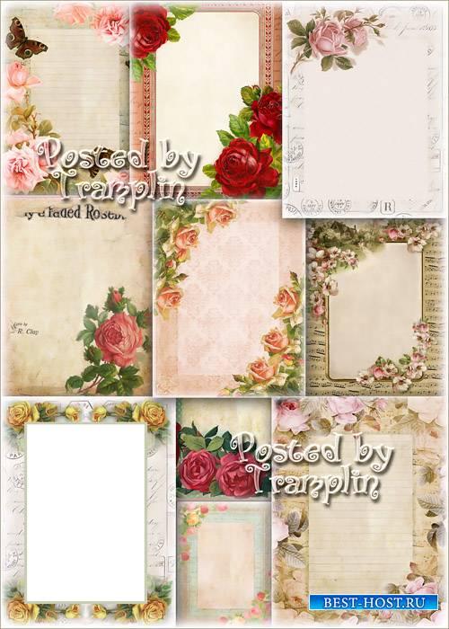 Фоны – Винтажная бумага с цветами