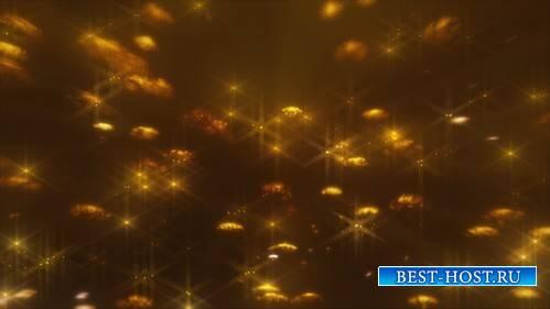 HD футаж Золотое свечение